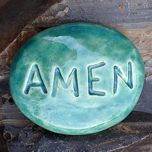 AMEN Pocket Stone - Turquoise