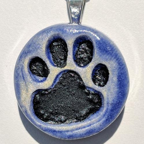 PAW PRINT Pendant - Exotic Blue