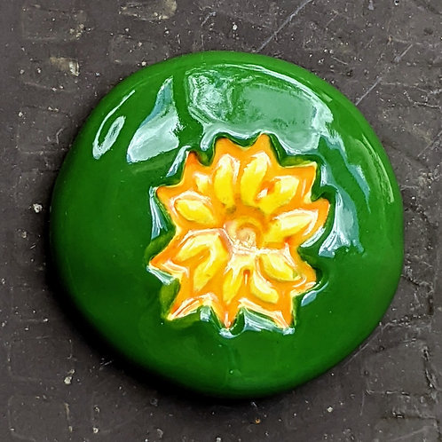 SUNFLOWER Pocket Stone - Hand-Painted