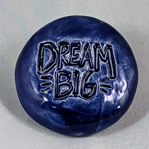 DREAM BIG Pocket Stone - Midnight Blue