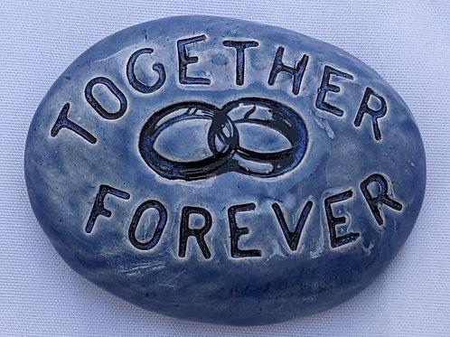 TOGETHER FOREVER Pocket Stone - Sapphire Blue