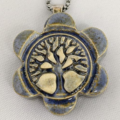 TREE OF LIFE Pendant - Antique Blue