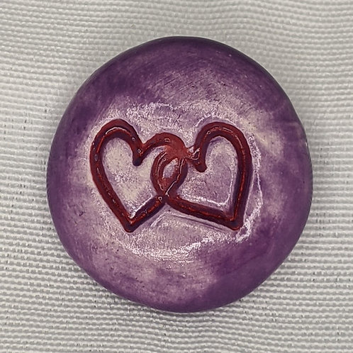 ENTWINED HEARTS Pocket Stone - Amethyst Purple