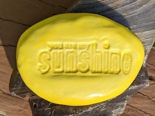 YOU ARE MY SUNSHINE Pocket Stone - Sun Yellow