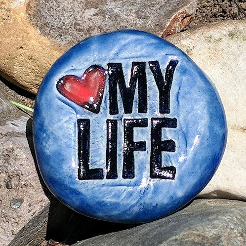 LOVE MY LIFE Pocket Stone - Sapphire Blue