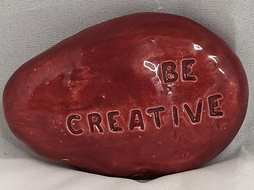 BE CREATIVE Pocket Stone - Raspberry Red
