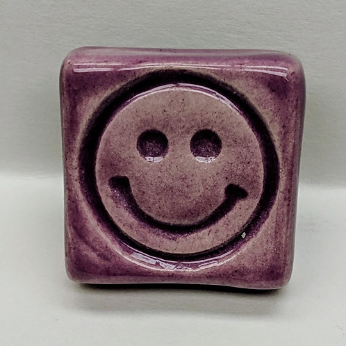 SMILEY FACE Magnet - Amethyst Purple