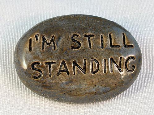 I'M STILL STANDING Pocket Stone - Antique Blue