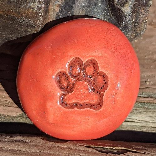 PAW PRINT Pocket Stone - Scarlet
