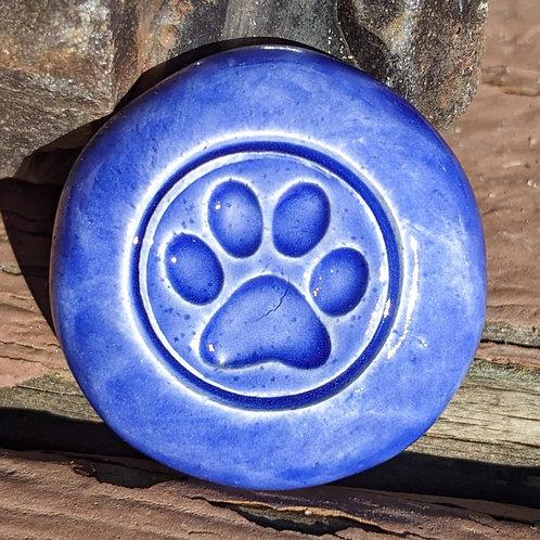 PAW PRINT Pocket Stone - Vivid Blue
