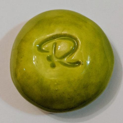 LETTER R Pocket Stone - Granny Smith Green
