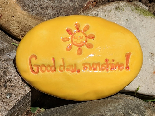 GOOD DAY, SUNSHINE! Pocket Stone - Maize Yellow