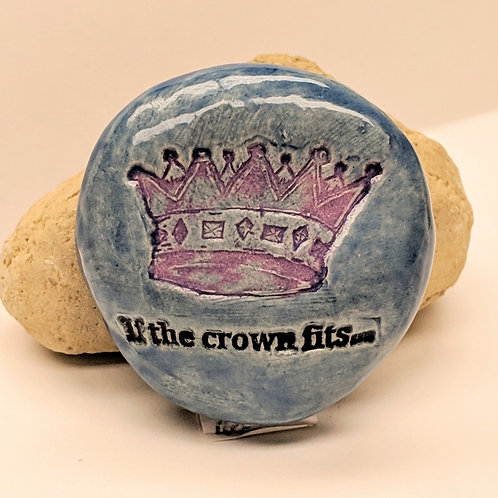 IF THE CROWN FITS Pocket Stone - Sapphire Blue