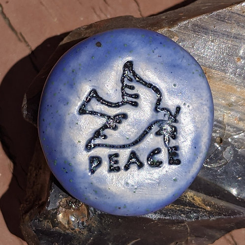 PEACE DOVE Pocket Stone - Mediterranean