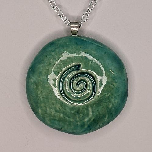 SPIRAL Pendant/Necklace - Aquamarine