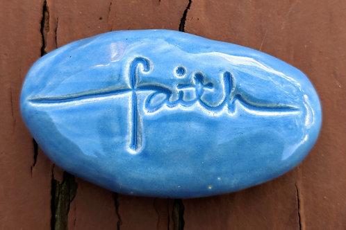 FAITH Pocket Stone - Bluebonnet