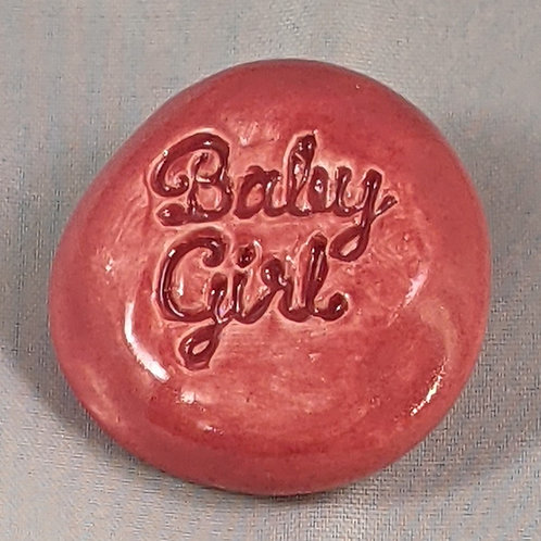 BABY GIRL Pocket Stone - Rose