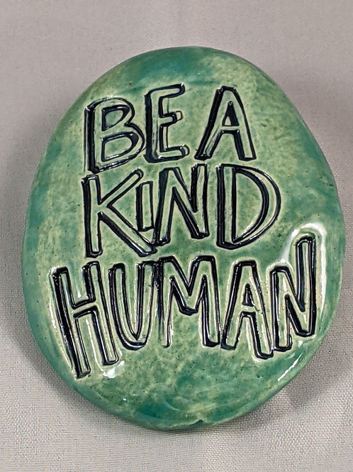 BE A KIND HUMAN Pocket Stone - Aquamarine