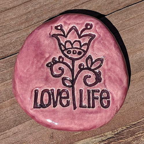 LOVE LIFE Pocket Stone -  Plum