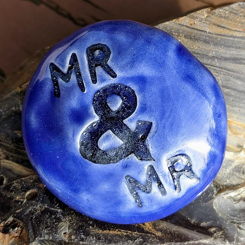 MR & MR Pocket Stone - Vivid Blue