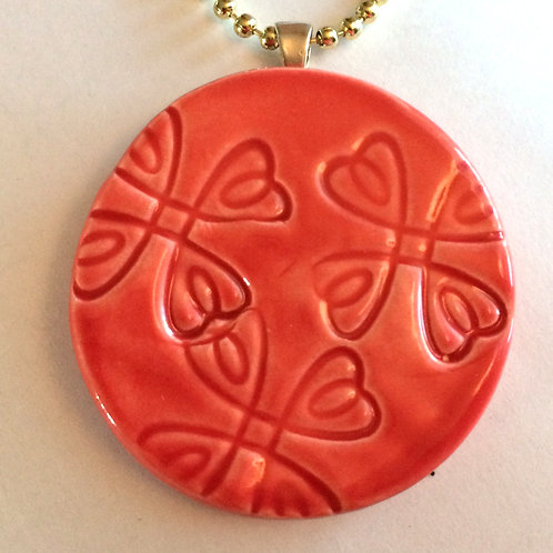 FLORAL DESIGN Pendant - Scarlet Red