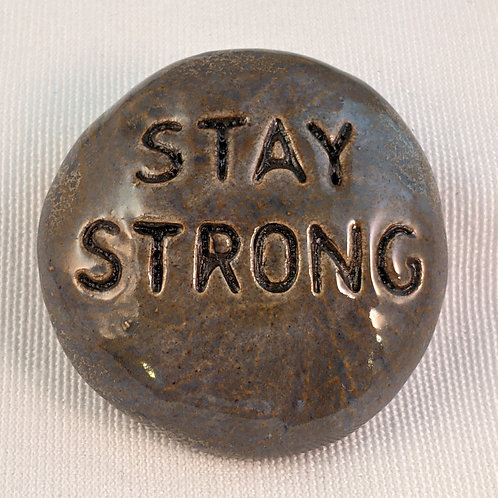STAY STRONG Pocket Stone - Antique Blue