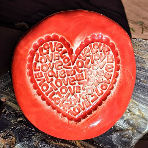 HEART FULL OF LOVE Pocket Stone - Scarlet Red