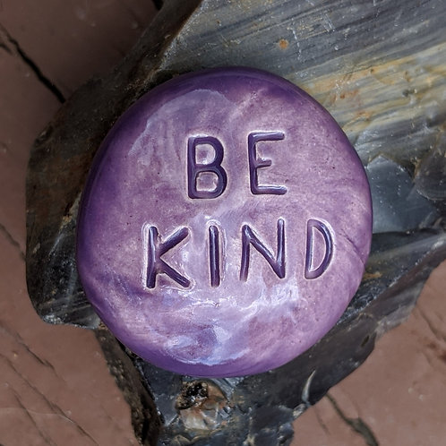 BE KIND Pocket Stone - Tanzanite
