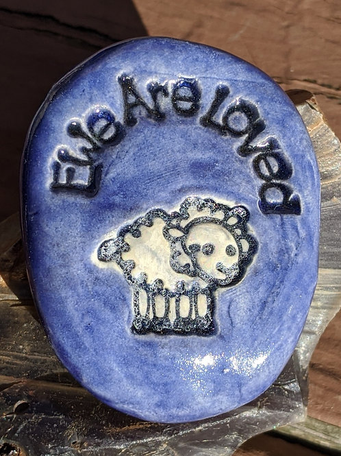 EWE ARE LOVED Pocket Stone - Exotic Blue