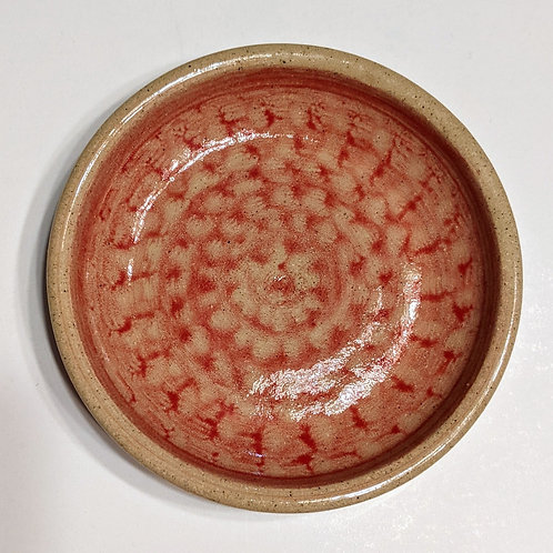 BREAD DIPPING PLATE by TC Pottery Studio - Red Design