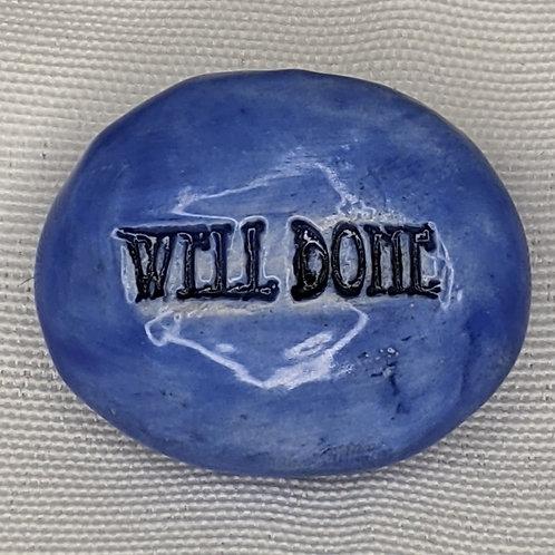WELL DONE Magnet - Medium Blue