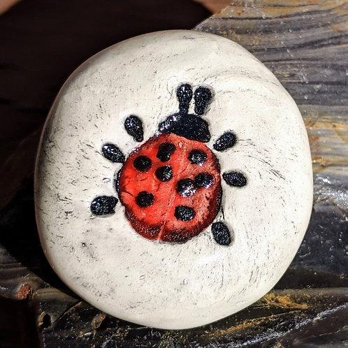 LADYBUG Pocket Stone - Hand-painted