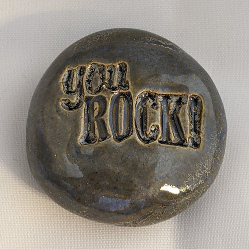 YOU ROCK! Pocket Stone - Antique Blue