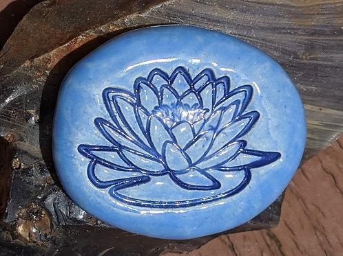 LOTUS BLOSSOM Pocket Stone - Bluebell