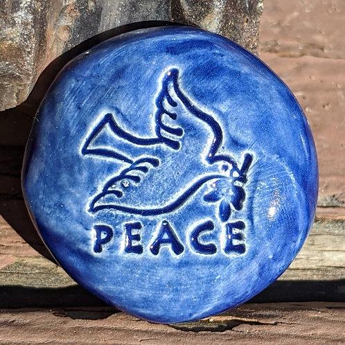 PEACE DOVE Pocket Stone - Midnight Blue