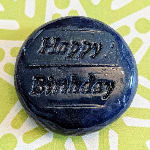 HAPPY BIRTHDAY Magnet - Royal Blue
