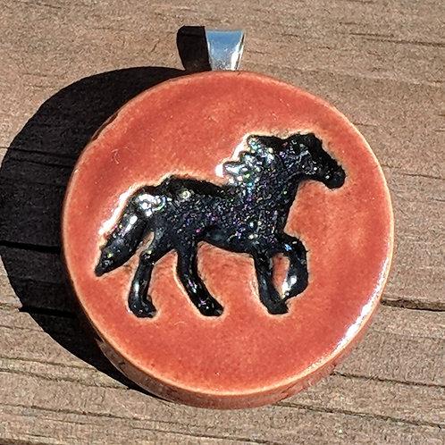 HORSE Pendant - Burnt Orange
