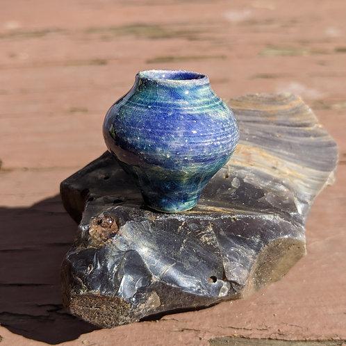 MINIATURE VASE - Antique Blue