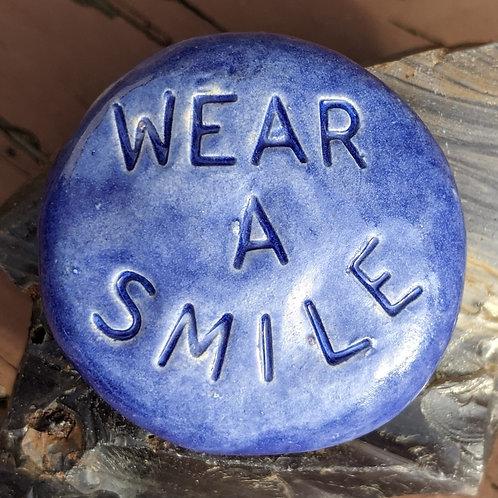 WEAR A SMILE Pocket Stone - Exotic Blue