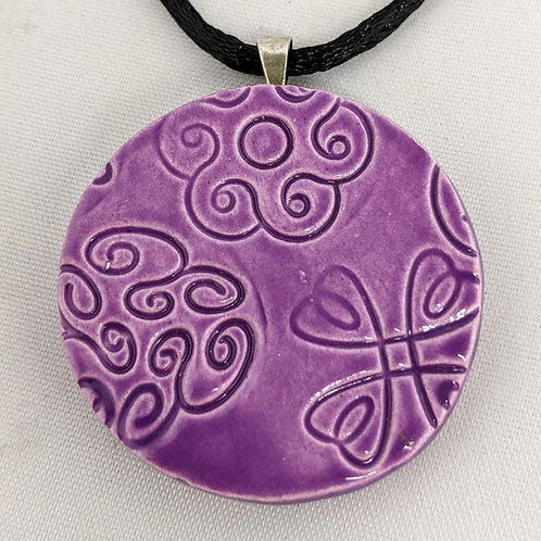 FLORAL DESIGN Pendant / Necklace - Amethyst
