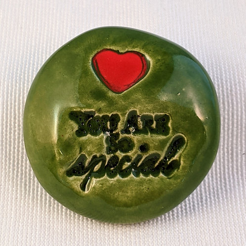 YOU ARE SO SPECIAL Pocket Stone - Emerald Green