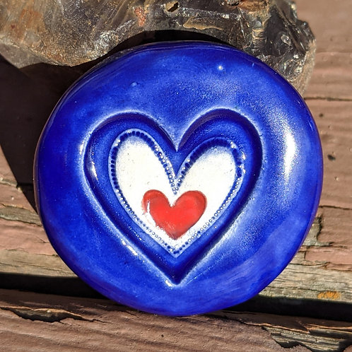 HEARTS Pocket Stone - Midnight Blue