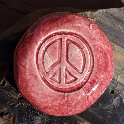 PEACE SIGN Pocket Stone - Sirocco Red