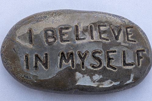 I BELIEVE IN MYSELF Pocket Stone - Antique Blue