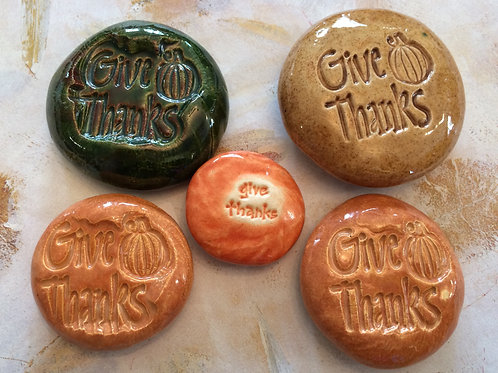 GIVE THANKS Pocket Stones