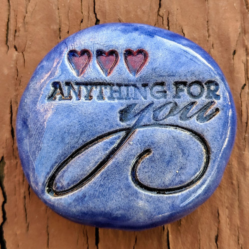 ANYTHING FOR YOU Pocket Stone - Exotic Blue