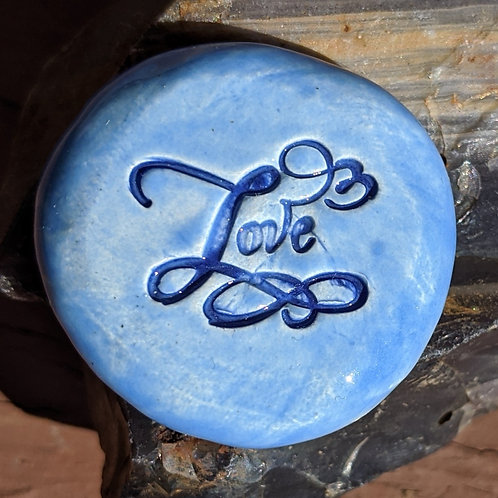 LOVE Pocket Stone - Bluebell