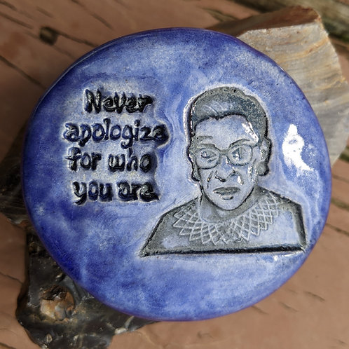 RBG NEVER APOLOGIZE Pocket Stone - Exotic Blue