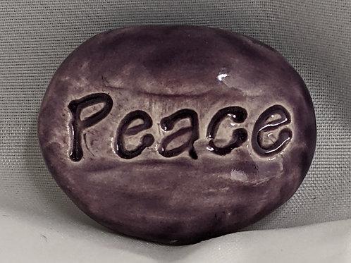 PEACE Pocket Stone - Purple