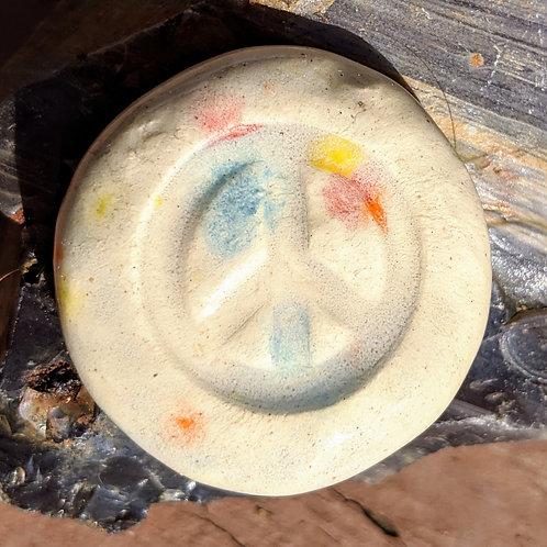 PEACE SIGN Pocket Stone - Kaleidoscope
